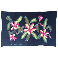Sarong pareo - Black flowers 6