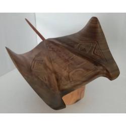 Wood carving - Manta ray...
