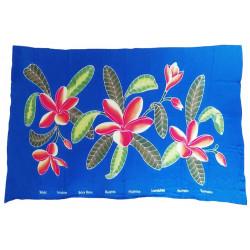 Sarong pareo - Blue flowers 6